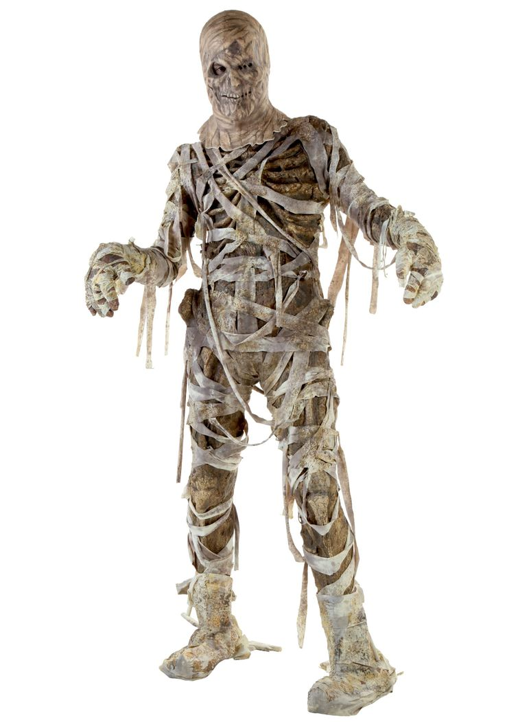 YOU'RE...ALIVE! You'll look as though you've crawled out of the grave in this gruesome Mummy Costume. Exposed ribs, maggots, and a foul order is all we have to look forward too. Terrorize your neighborhood in this horrific costume!