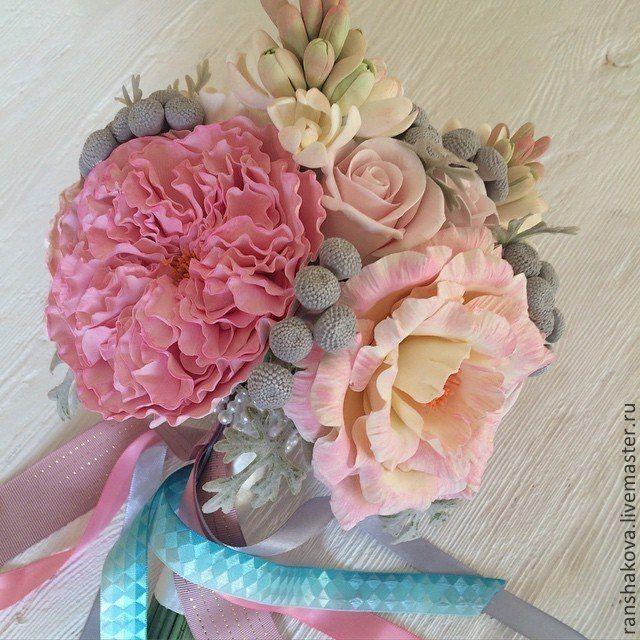 """Купить Букет невесты с пионовидными розами """"Розовые грезы"""" - бледно-розовый, букет невесты"""