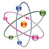 vector abstract atom icon Royalty Free Stock Photo