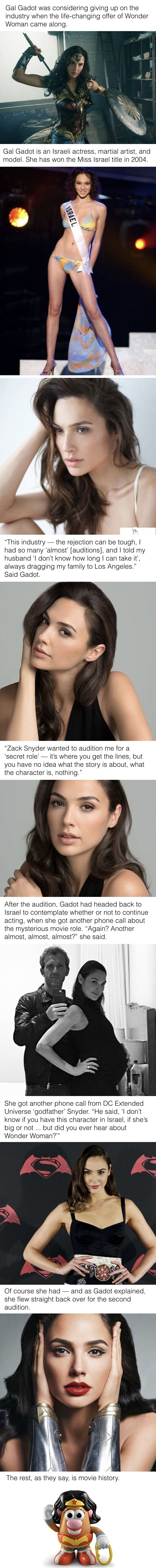 Gal Gadot was considering giving up on acting when the life-changing offer came along.