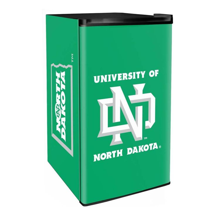 North Dakota Fighting Hawks 3.2 Cubic Feet Mini-Fridge