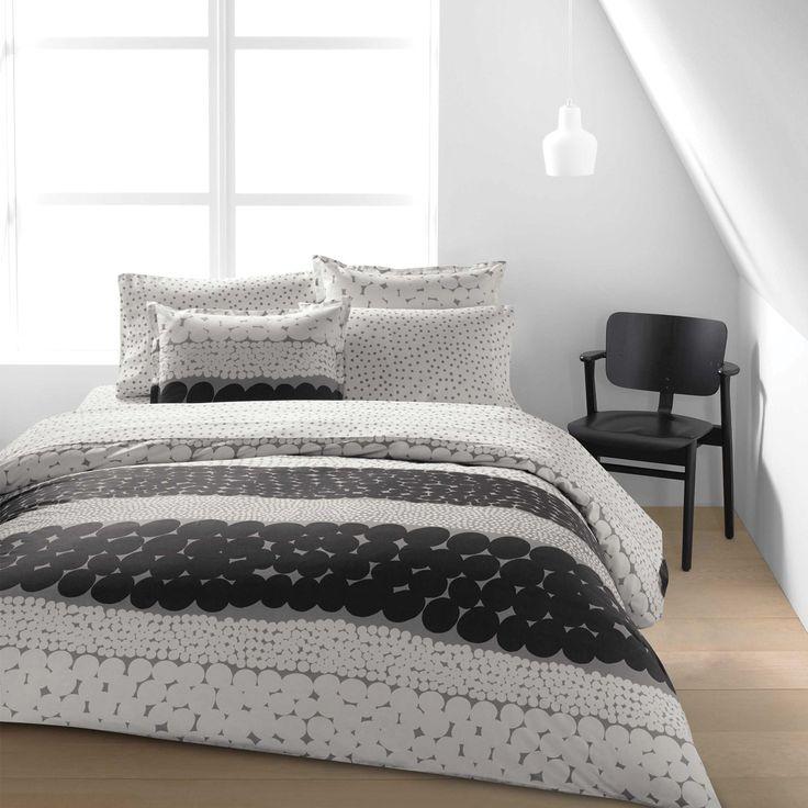 Marimekko Jurmo Grey/White Percale Bedding - Marimekko Bed & Bath Sale