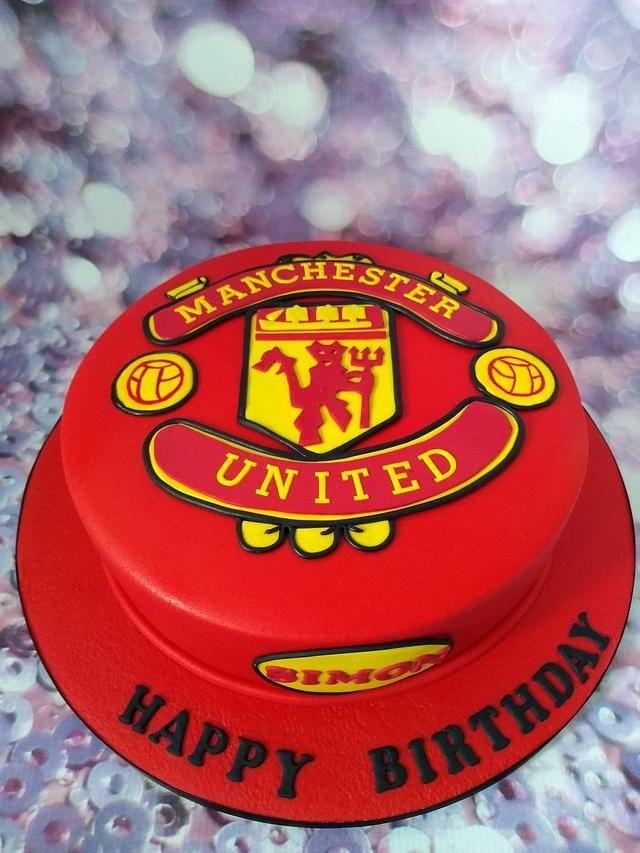 Man Utd Logo Cake By Karen S Cakes And Bakes Cake Logo Cake Make Up Cake