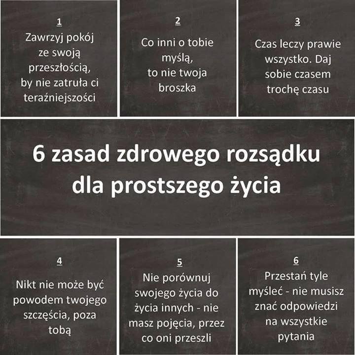 6 zasad zdrowego rozsądku dla prostszego życia.
