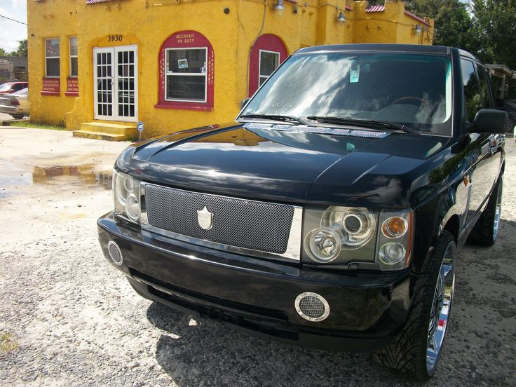 "2003   Range Rover   Black   160K   $18,000  Black leather seats  Automatic  22"" rims"
