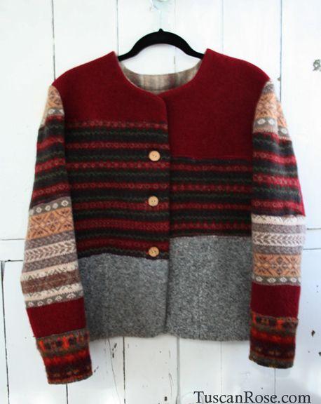 Upcycled wool sweater, so sweet. Ik ben dil op het idee om van oude kleding iets nieuw te maken.