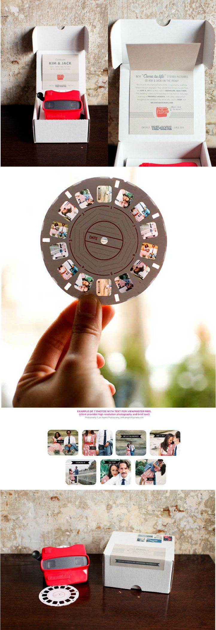 Viewmaster Wedding Invitations | Design & Decor | Wedding Design Ideas | | WEDDING NOUVEAU