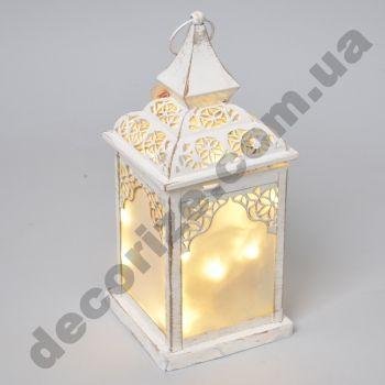 Фонарь - подсвечник с гирляндой LED