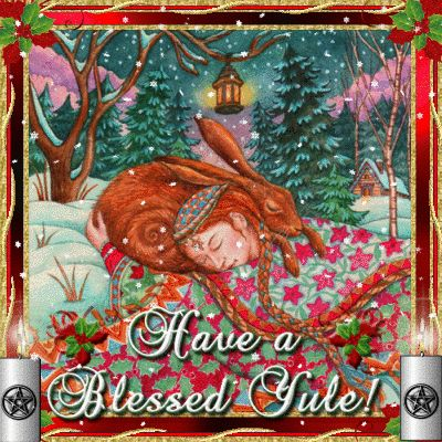 Image result for blessed yule tumblr gif