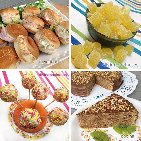 aqu tienes una seleccin de platillos dulces y salados y muchas recetas para fiestas infantiles con