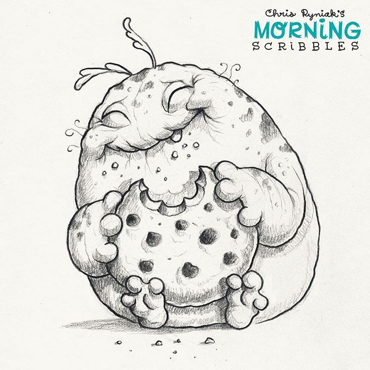 This cookie MIGHT be big enough to last until lunchtime.   #morningscribbles #cookie