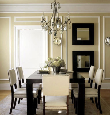 Moulding and paint wall treatment...  I love this look but it's waaay too fancy for the likes of me!