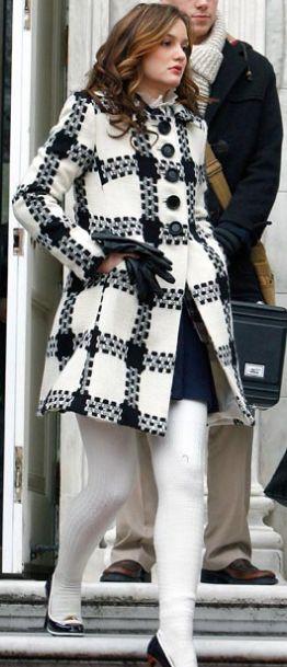 Blair Waldorf. love the coat