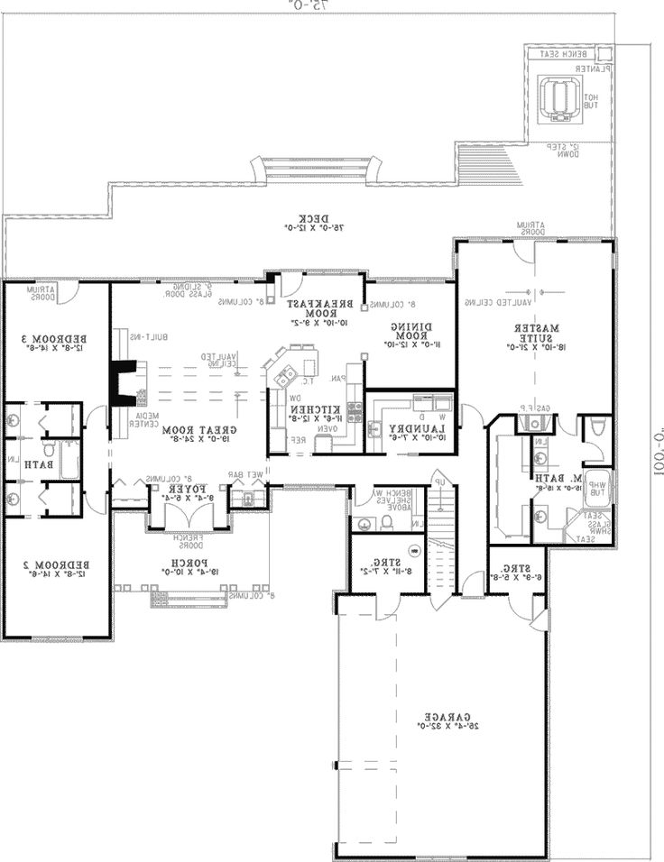 House plans with master and guest room on main floor for Main floor master house plans