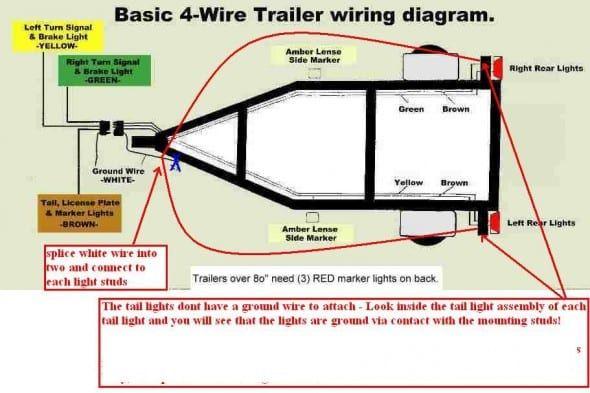 wiring boat trailer lights diagram  trailer wiring diagram