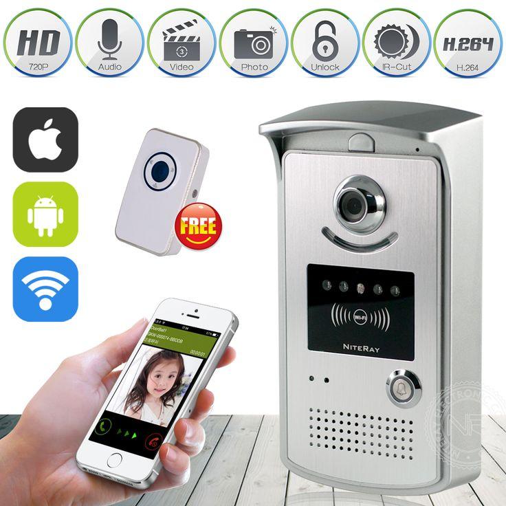 2016 Terbaru HD 720 P Wifi Kamera Video Nirkabel Interkom Bel Telepon Control IP Pintu Telepon bel Pintu Nirkabel IOS Android