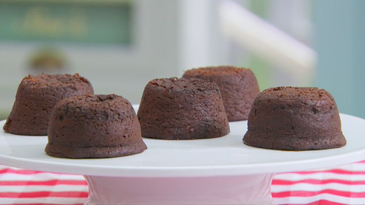 This chocolate volcanoes recipe is Paul's interpretation of the signature challenge in the Desserts episode of The Great British Baking Show.