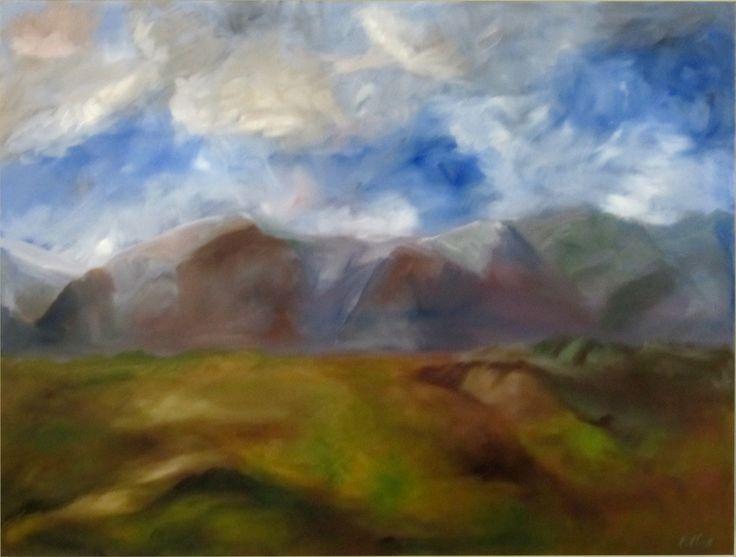 Mountain View – oil on canvas