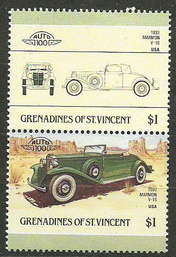 Grenadines of St. Vincent, 1986, Mi 452-453, 1932 Marmon, US, #611, MNH