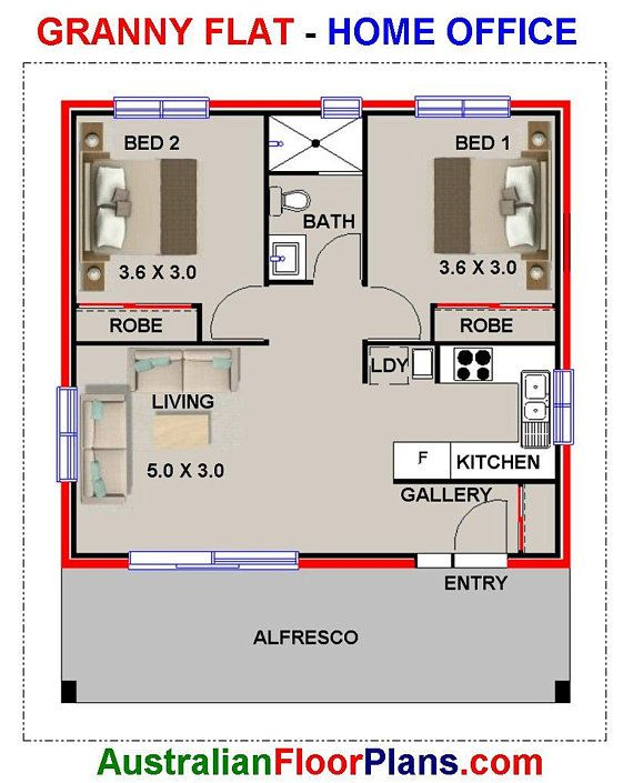 60 Life 700sq Foot 60 M2 Living Area 2 Bedrooms Granny Flat House Design Granny Flat Requirements Concept House Plans For Sale House Plans For Sale Flat House Design House Plans