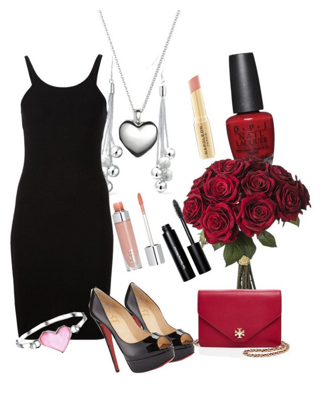 """вечернее свидание"" by igotkitov on Polyvore featuring Christian Louboutin, OPI, Bling Jewelry, T By Alexander Wang, Pandora, Bobbi Brown Cosmetics, Tory Burch and Napoleon Perdis"