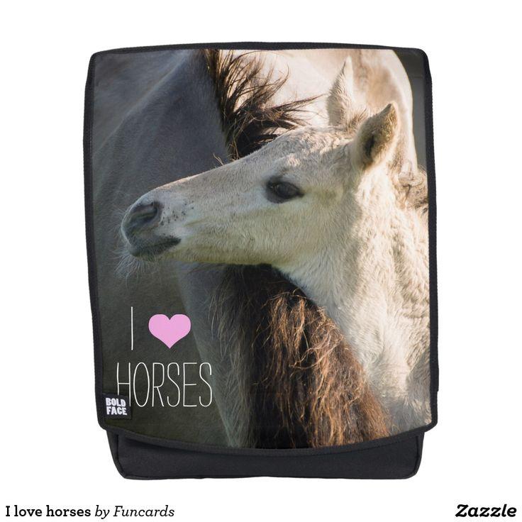 I love horses backpack