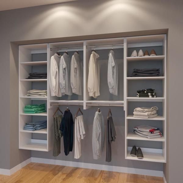 Vista 8 Ft Closet Organizer System 96 Inch Style B Closet