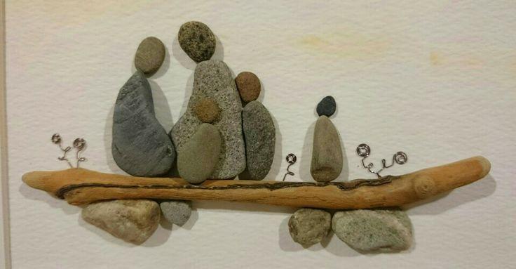 Pebble Art: Pebbles Driftwood...
