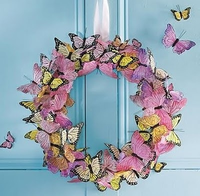 wreaths butterflies: Idea, Butterfly Wreaths, Craft, Butterflywreath, Wreaths Butterflies, Spring Wreaths, Diy, Easter Spring