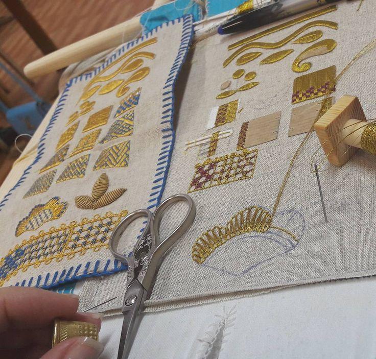 Торжок, золотошвейное училище. #золотошвейноеискусство #золотка #золотное_шитье #золотоешитье #шитьезолотом