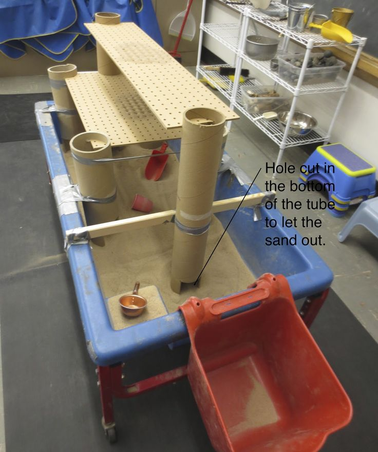 SAND AND WATER TABLES: PEGBOARD PLATFORM - LEVEL 2