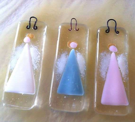 Beautiful #Angels that I've found for you. Includes #Free #Crochet Patterns ~ Crochet Addict UK.   Fused glass guardian angel