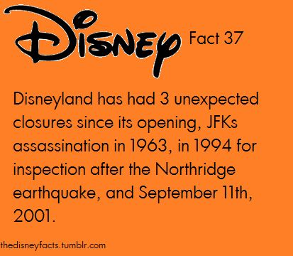 Three unexpected closures: The Disney Facts