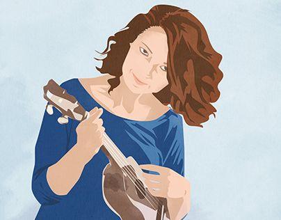 """L'illustrazione per la locandina dell'attività canora di mia sorella Margherita.  www.alkestudio.it  Check out new work on my @Behance portfolio: """"My ukulele"""" http://be.net/gallery/52733899/My-ukulele"""