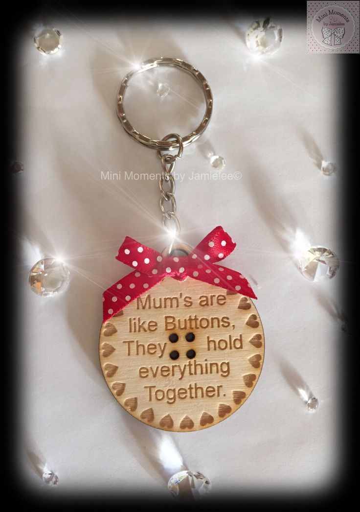Mums are like buttons keyring from Mini Moments by Jamielee© Fb.com/minimomentsbyjamielee