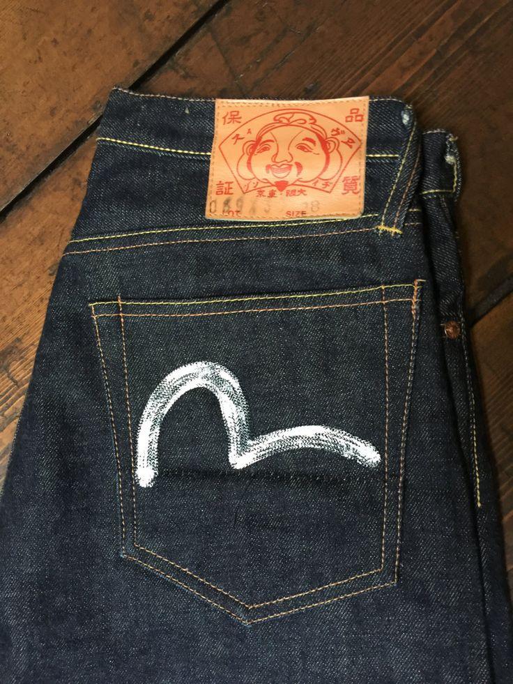"""Evisu selvage jeans 28"""" lenght 31"""", almost new door Tonupgirl op Etsy"""