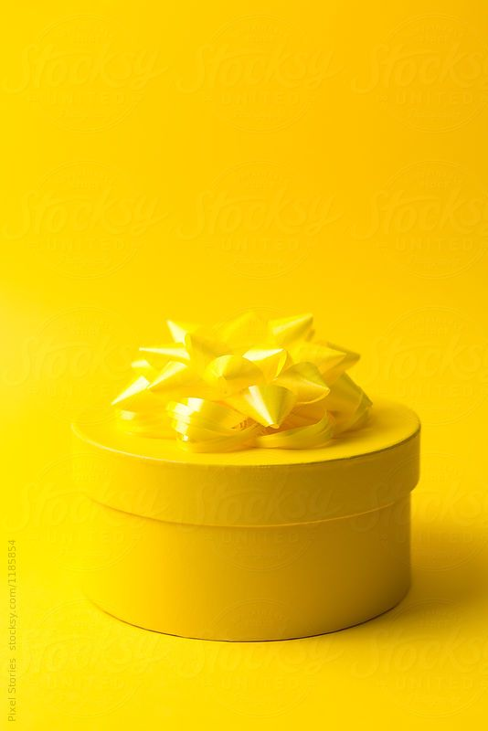 Yellow Gift Box by Pixel Stories | Stocksy United