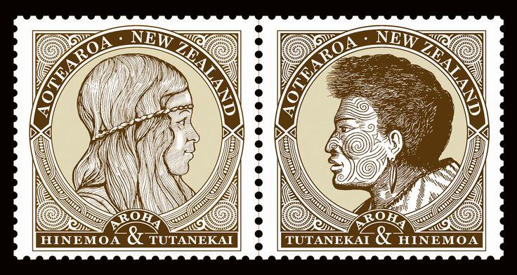"Digital Poster celebrating the Maori legend ""Hinemoa & Tutanekai"", Rotorua, N.Z. by Terry Fitz., 2014."