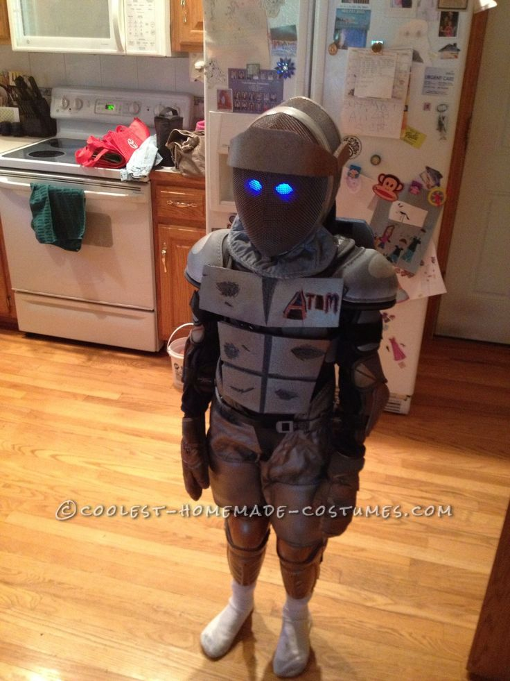 Cool Homemade Boy S Costume Atom From Real Steel Real