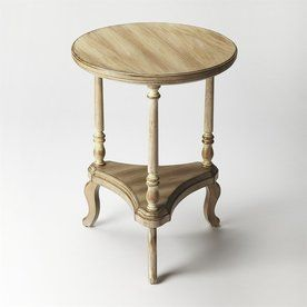 Butler Specialty Masterpiece Driftwood Rubberwood Round End Table 1590247