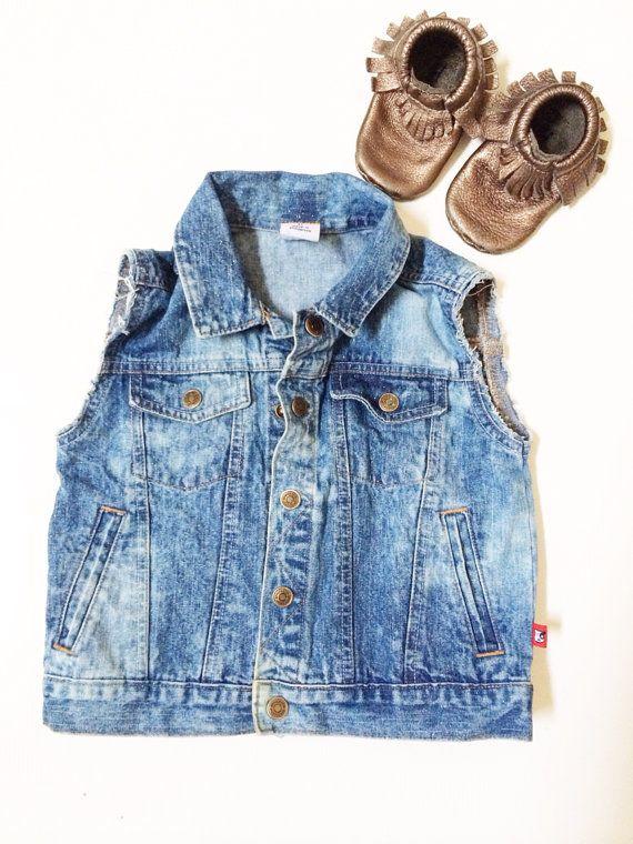 Baby Jean Vest - Baby Denim Vest - Midnight Sparkle Girl on Etsy, $35.09 AUD