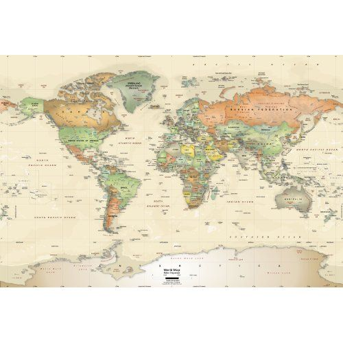 M s de 1000 ideas sobre mapa mundi politico en pinterest - Mapamundi pared ikea ...