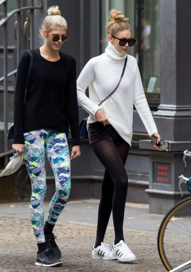 Gigi Hadid and Devon Windsor - Leaving yogurt place in New York