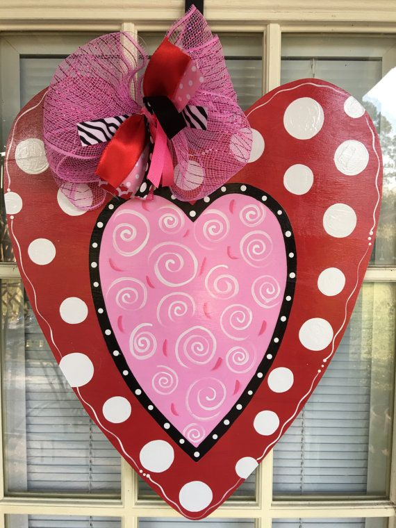 120 best valentine door hangers images on Pinterest