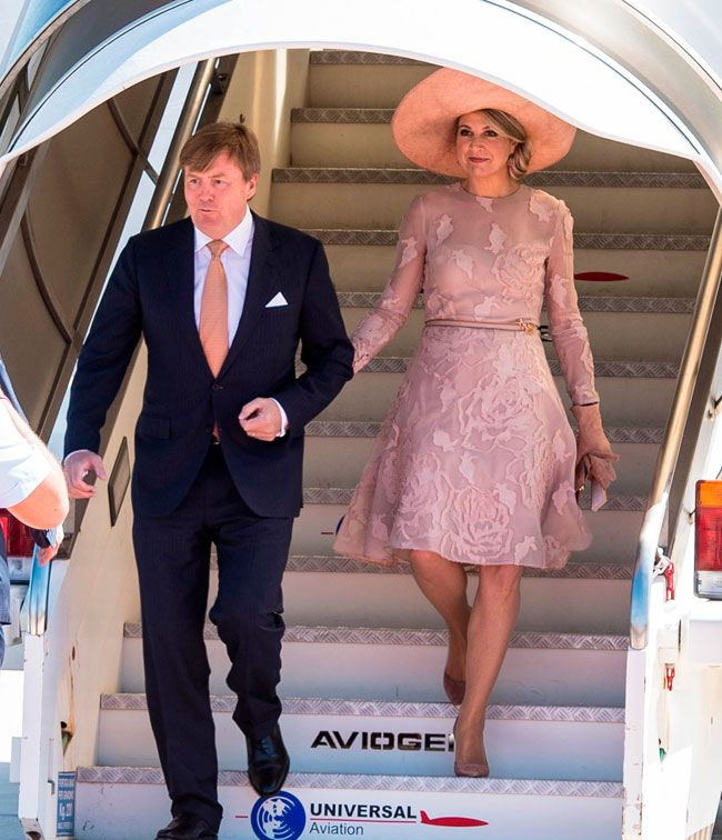 20 June 2017 - State visit to Italy: Rome (day 1) - dress by Natan