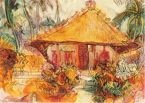 Beachside Bungalow. Donald Friend.