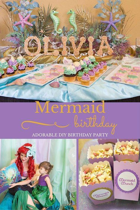 Host An Adorable Mermaid Birthday Party  2018 Party Ideas -1611