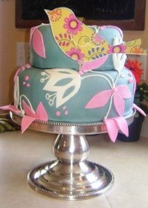 I like the bird but would do something different with the cake as a background or leave the bird out.  JMO  rr  :-)