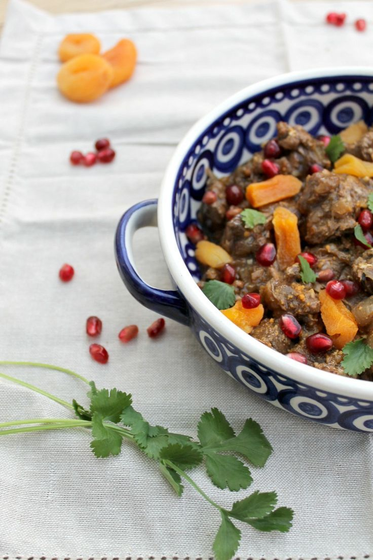 Lamb tagine with pomegranates #LivePeasant with Simply Beef and Lamb