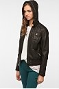 BDG Vegan Leather Bomber Jacket